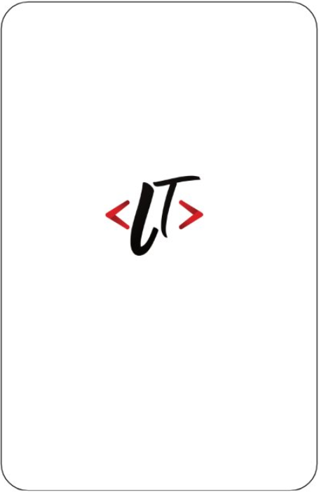 Verso carte de visite avec logo web-lt